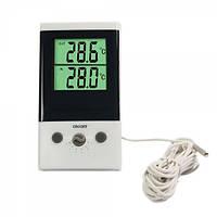 Цифровой ЖК термометр двухрежимный DT-1