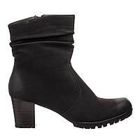 ✳️Ботильйони жіночі Rieker 40 (ботинки женские демисезонная обувь сапоги каблук кожаные)