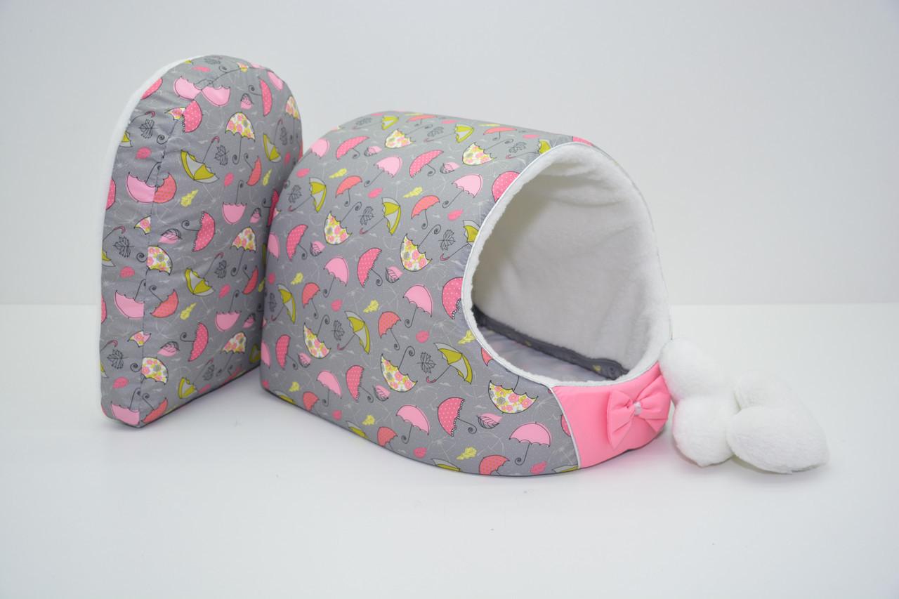 Будка для собак и котов Фантазия розовая №3 620х440х440