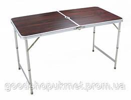 Стол аллюминиевый для пикника на природу стол чемодан коричневый 8812F