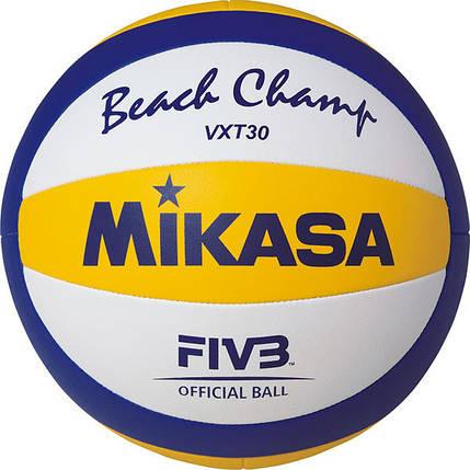 Мяч пляжного волейбола Mikasa VXT30 , сшитый (оригинал), фото 2