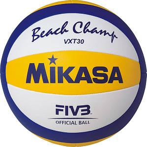 Мяч пляжного волейбола Mikasa VXT30 , сшитый (оригинал)