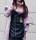 Сарафан на молнии из эко-кожи (2 цвета), фото 4
