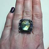 Кольцо лабрадорит спектролит в серебре. Кольцо с лабрадором размер 18,5 Индия!, фото 3
