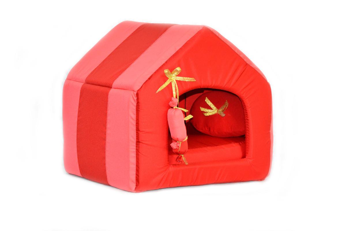 Домик для котов и собак Комфорт лето красный красный №1 300х330х330