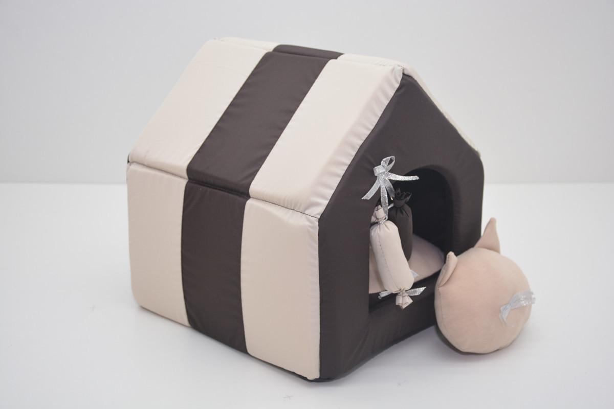 Домик для котов и собак Комфорт лето коричневый №0 260х270х270