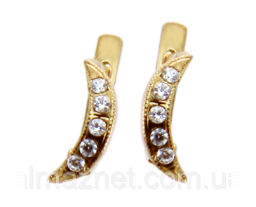Серьги из золота Минерва