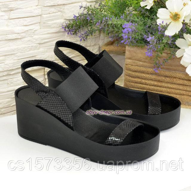 5d5136f81ee2 Босоножки женские черные на высокой устойчивой платформе: продажа, цена в  Днепре. ...