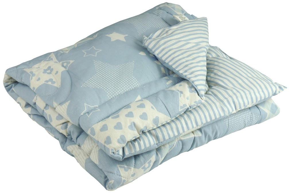 """Одеяло детское зимнее шерстяное 105х140 см голубое ТМ """"Руно"""", фото 1"""