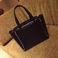 Женская сумка в стиле реплика Celine , Селин Черный цвет Экокожа