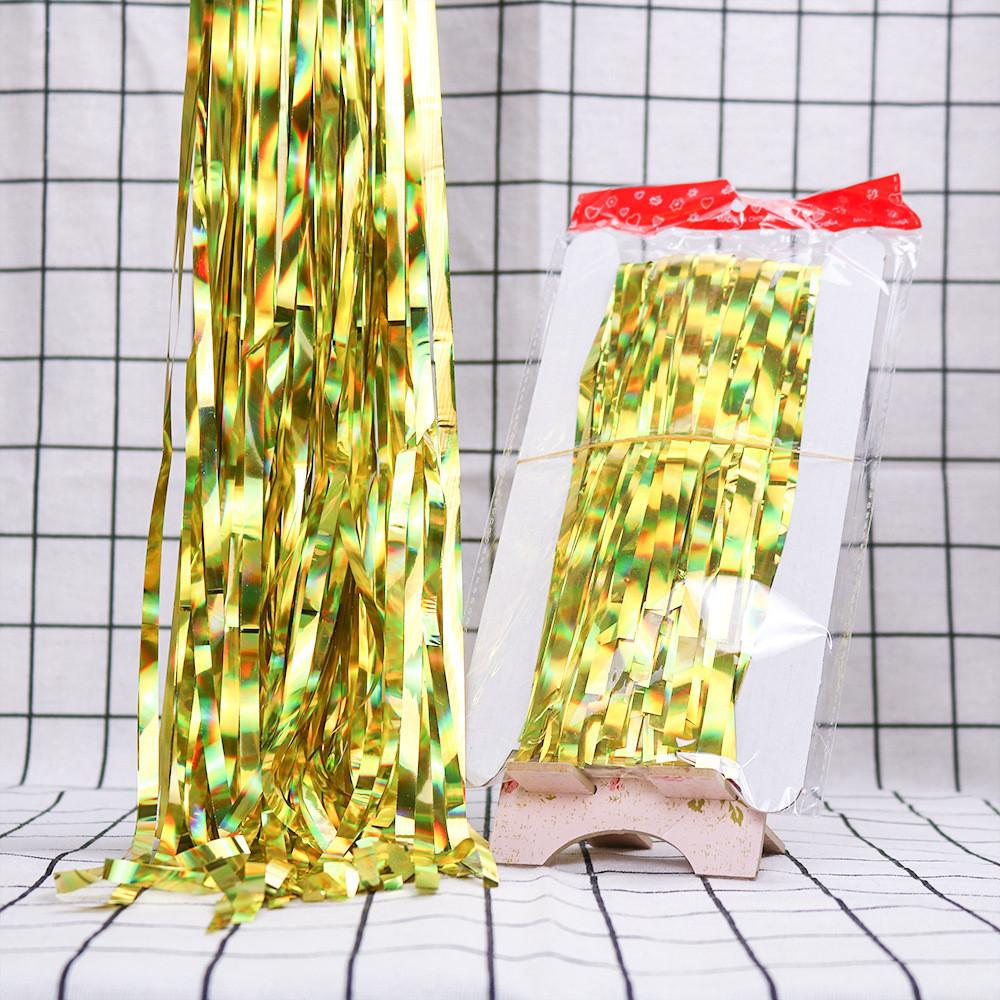 Занавес золото из фольги для оформления 1x3 м