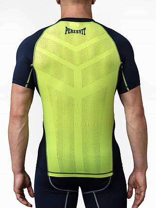 Компрессионная футболка Peresvit Air Motion Compression Short Sleeve T-Shirt Navy Flu Yellow, фото 2
