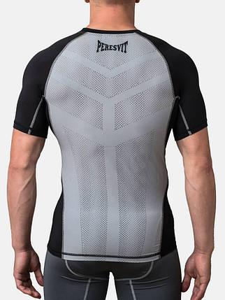 Компрессионная футболка Peresvit Air Motion Compression Short Sleeve T-Shirt Black Grey, фото 2