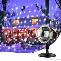 Светодиодный прожектор для снегопада в рождественском стиле