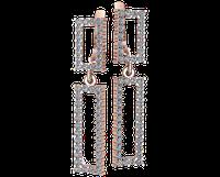 Золотые серьги-подвески Люсьен
