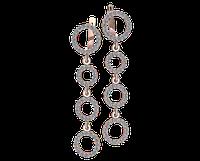 Золотые серьги-подвески Кольца Сатурна