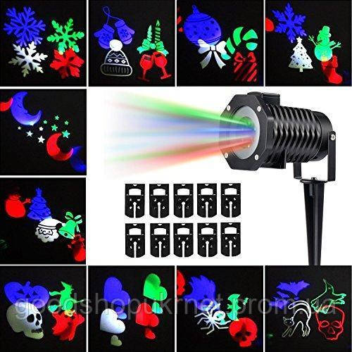 Лазерный новогодний проектор DIY Projection Lamp, фото 1