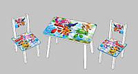 Детский стол и стулья Супер крылья