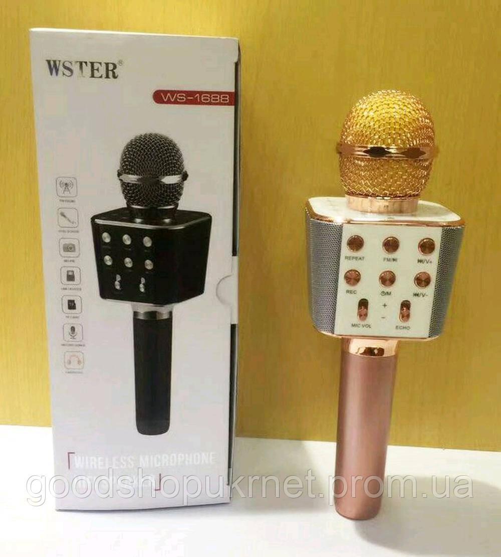 Караоке микрофон WSTER WS-1688 розовый