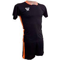 1e0c8f17c442 Комплект детской футбольной формы SWIFT PRIORITET Черно-оранжевая