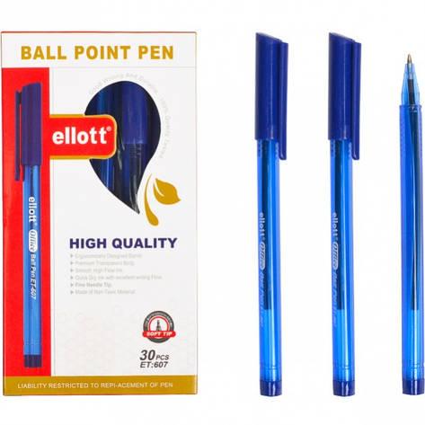 Ручка масляная «Ellot»  синяя 1 упаковка (30 штук)                       607, фото 2