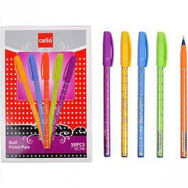 Ручка масляная Cello синяя 1 упаковка (50 штук)