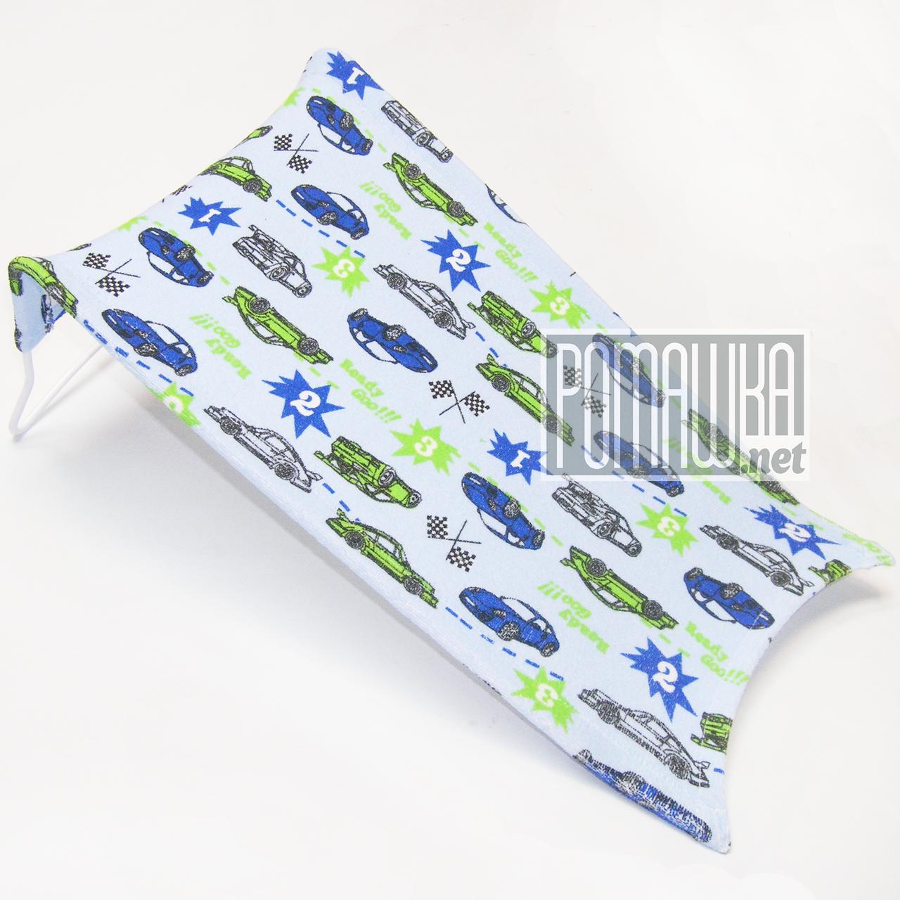Гірка в дитячу ванночку для купання немовляти махрова (трикотажна) Польща 0058 Синій