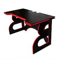 Компьютерный стол с подсветкой и полкой Barsky Homework Game Red HG-05 LED