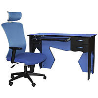 Рабочая станция (кресло и стол) Barsky Homework Blue HG-01/BM-05