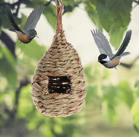 Гнездо - Домик для птиц,из специального плетеного волокна, кормушка для диких птиц, фото 2