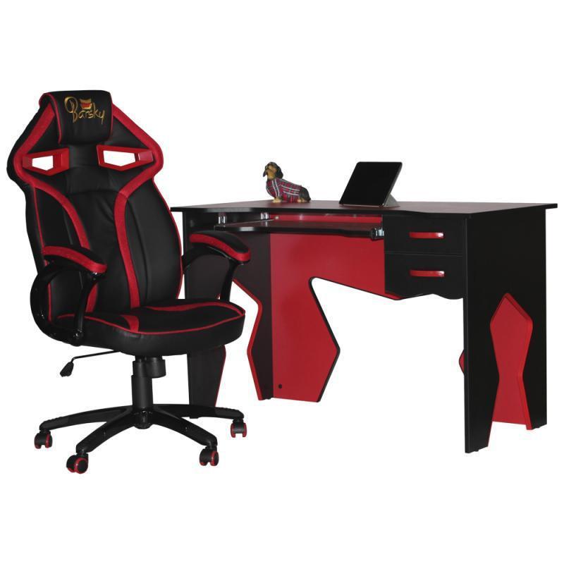 Геймерский набор кресло и стул Barsky Homework  Red  HG-02/SD-08