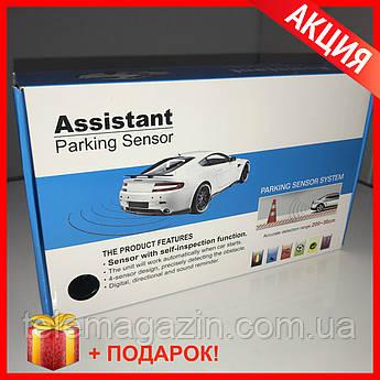 Парктроник Assistant на 4 датчика. Задний, передний - полный комплект установки. + Подарок.