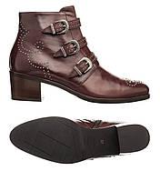 🔴️Ботильйони Maripe 40 (25 см) (ботинки женские демисезонная обувь сапоги  каблук кожаные ac3c6490e84