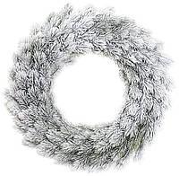 Новогодний декоративный венок Хвоя в снегу d 50 см искусственная хвоя (psg_BD-122-108)