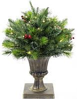 Новогодний LED-декор из искусственной хвои в вазоне 50 см 201 ветка (psg_BD-840-119)