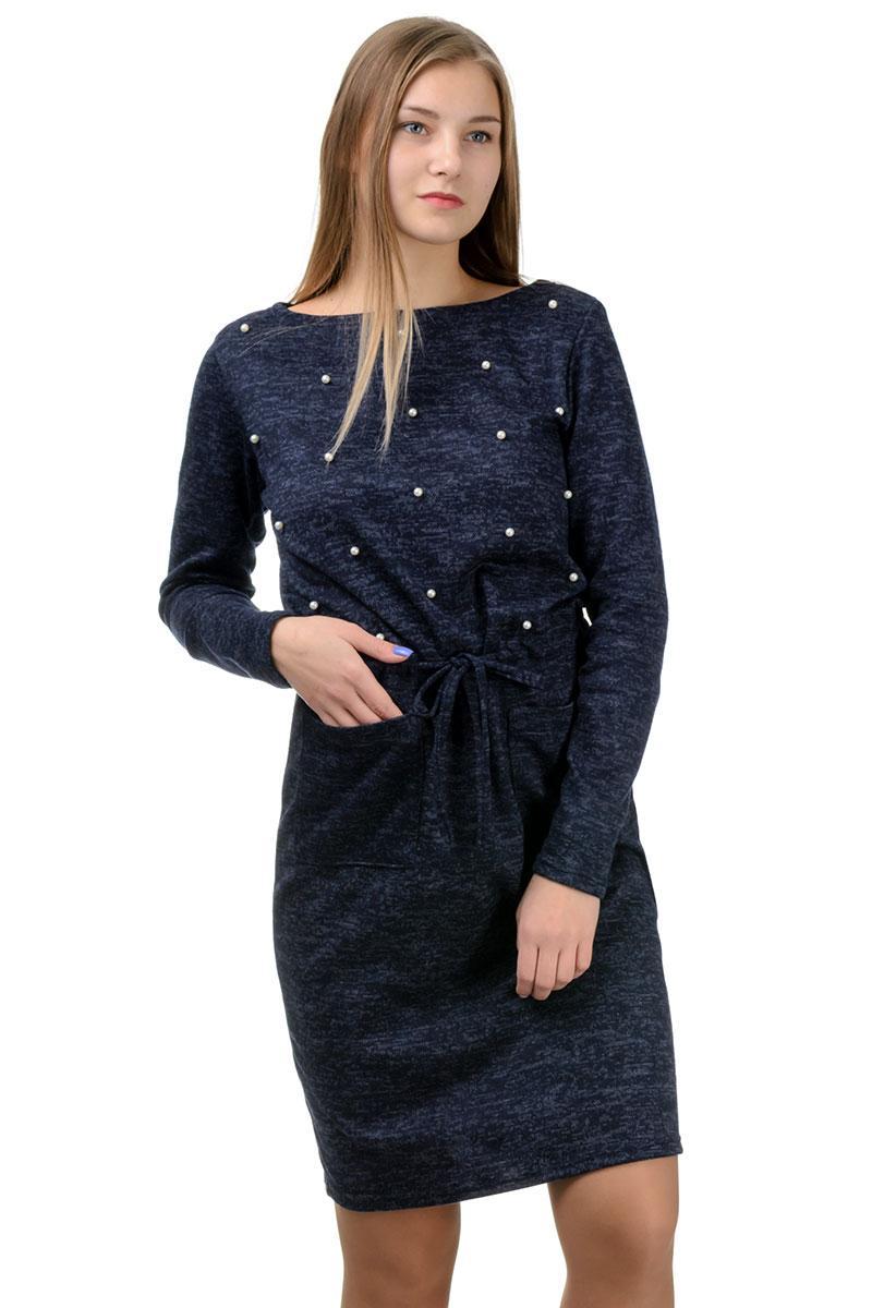 """Молодежное повседневное платье """"Jessica"""",темно-синий, размеры М-XXL"""