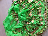 Платок для восточных танцев салатовый