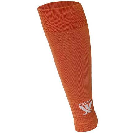 Гетры футбольные Swift без носка оранжевые, р.27, фото 2