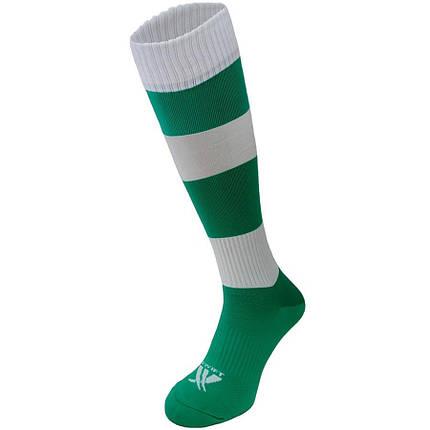 Гетры футбольные Swift Зебра зелено/белые р.27, фото 2