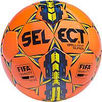 Мяч футбольный SELECT Brillant Super FIFA TB оранжевый размер 5