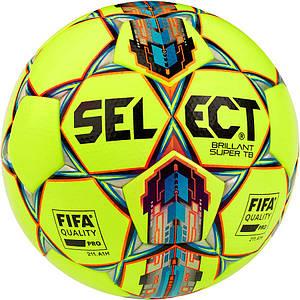 Мяч футбольный SELECT Brillant Super FIFA TB желто/красный размер 5