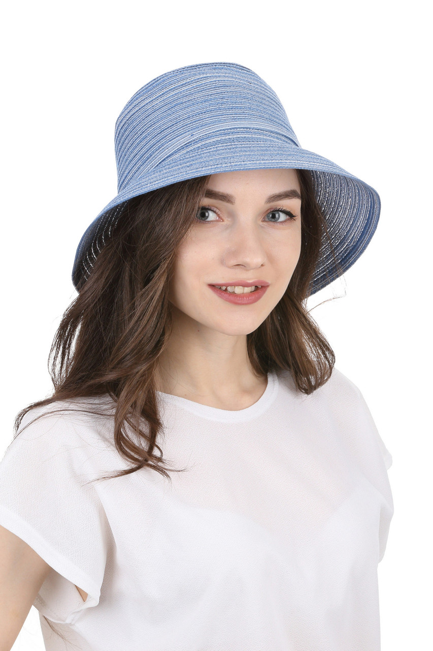 Женская панама голубая