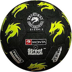Мяч футбольный MONTA Street Match (002) черн/желт размер 4,5