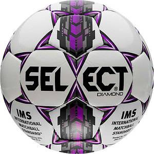 Мяч футбольный SELECT Diamond IMS бел/сер/крас размер 3