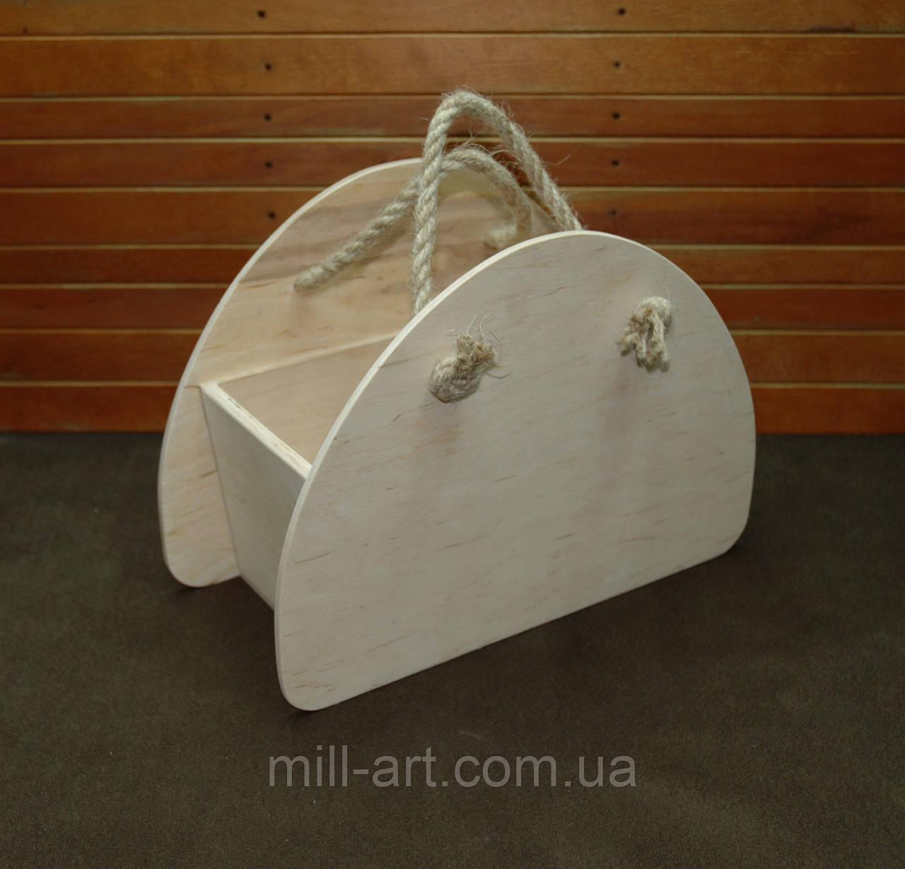 2f690edaad757 Заготовка для декорированя. Ящик, деревянная сумка 30х20х13.5(см ...
