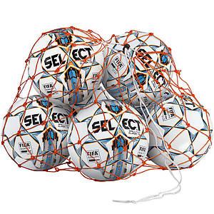 Сетка для мячей SELECT BALL NET (002) оранжевый, 14/16 мячей