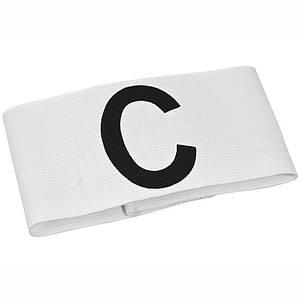 Детская капитанская повязка SELECT CAPTAIN'S BAND, белая mini, эластичная