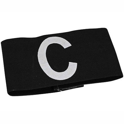 Детская капитанская повязка SELECT CAPTAIN'S BAND, черная mini, эластичная, фото 2
