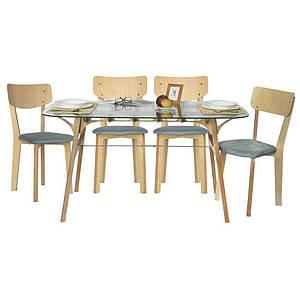 Комплект кабаре стол и 4 стула Barsky Status 01 Glass / 01/1 grey