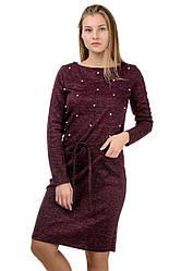 """Молодежное повседневное платье """"Jessica"""",марсала, размеры М-XXL"""